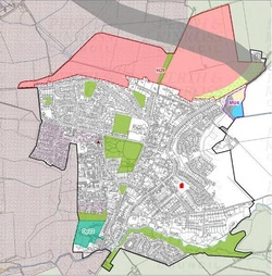 Map showing proposed location for 700 new houses in the north of Scone